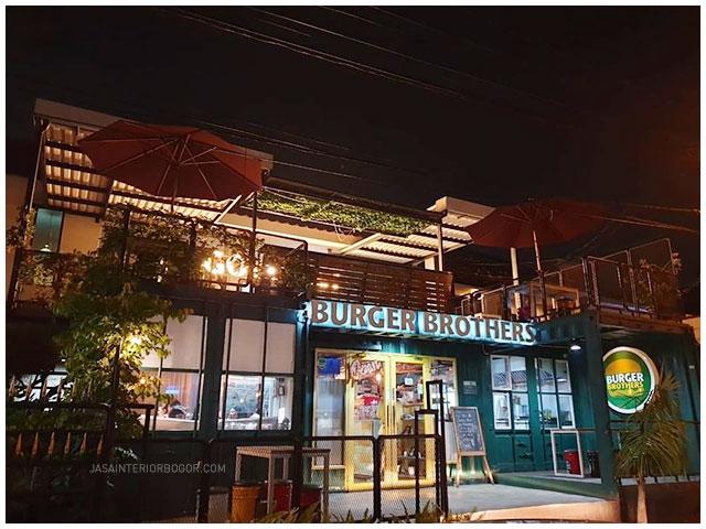 01 Burger Brothers Kemang Pratama - jasa interior bogor - kontraktor interior cafe restoran