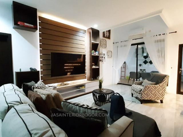 01 jatiwarna residence pondok gede - jasa interior bogor - kontraktor interior rumah tinggal jakarta bogor depok tangerang bekasi - ruang tamu