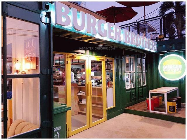02 Burger Brothers Kemang Pratama - jasa interior bogor - kontraktor interior cafe restoran