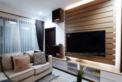 02 jatiwarna residence pondok gede - jasa interior bogor - kontraktor interior rumah tinggal jakarta bogor depok tangerang bekasi - backdrop tv