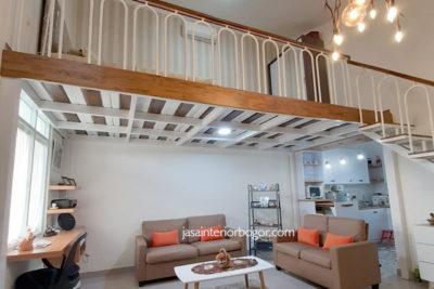 interior ruang tamu rumah jatiwarna 03 - jasa desain interior bogor