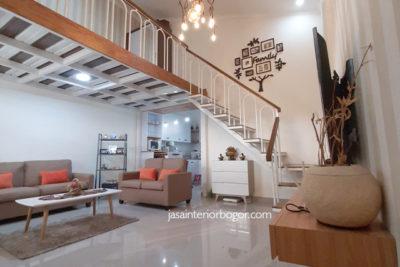 interior ruang tamu rumah jatiwarna 04 - jasa interior bogor