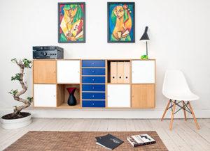 rak gantung - floating shelf jasa interior bogor